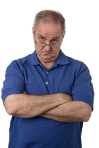 Irritated man