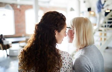 don't spread gossip like these two women talking. Create a drama-free culture