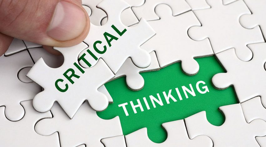 Critical thinking is a vital piece to any culture